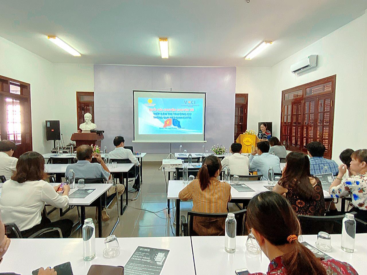 """Hiệp hội Doanh nghiệp tỉnh Quảng Nam tổ chức buổi nói chuyện chuyên đề : """"Tiếp cận thị trường EU thông qua Hiệp định EVFTA"""""""